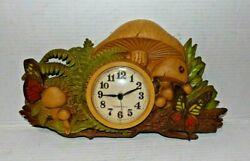 New Haven Quartz Clock Mushrooms #1315-1 Tested