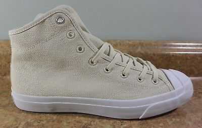 - Converse Jack Purcell Mid Casual Canvas Sneakers  Driftwood/Beige  159670C