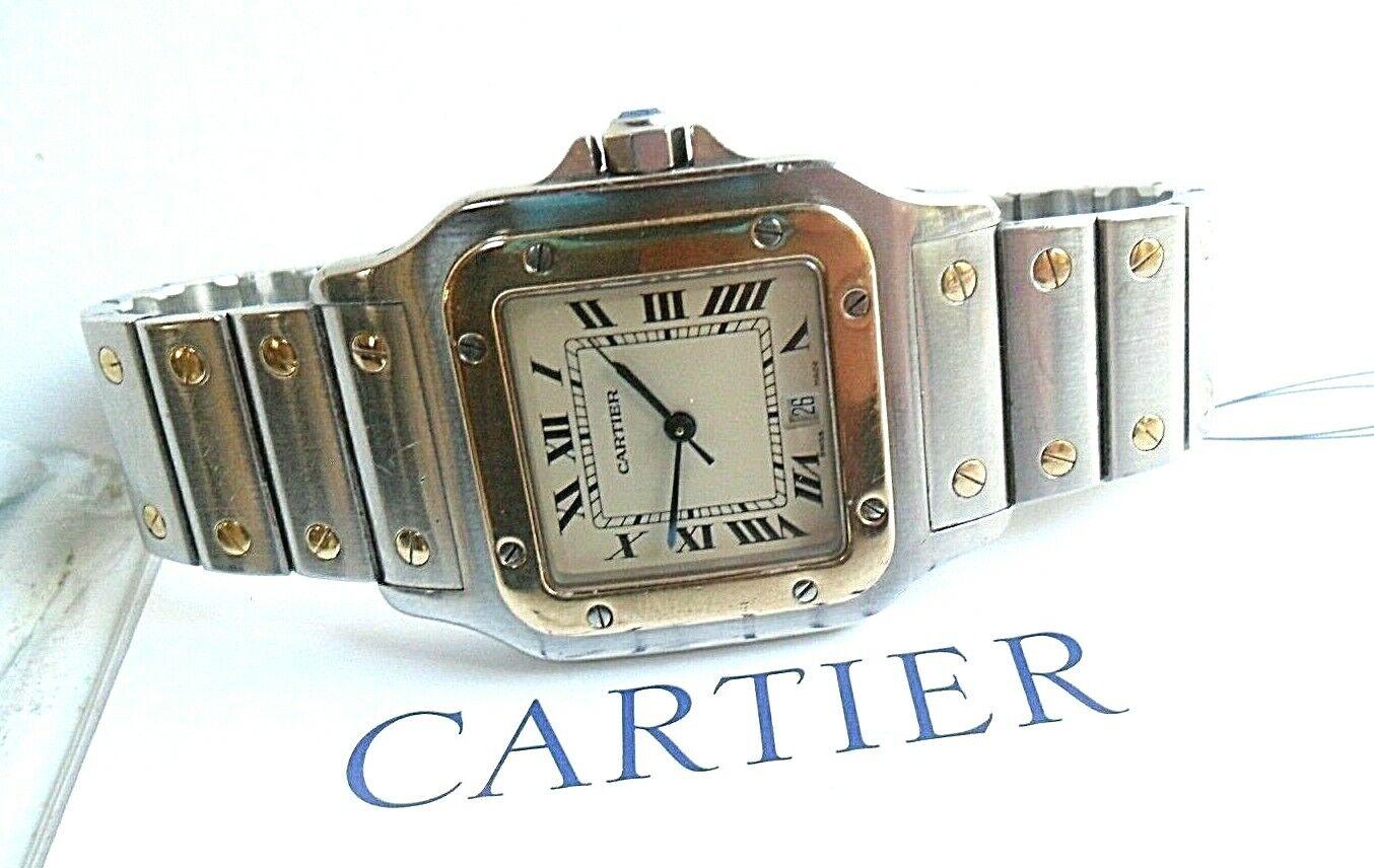 Classic Cartier Santos De Galbee 18k & Stainless Steel Quartz Swiss Watch Runs - watch picture 1