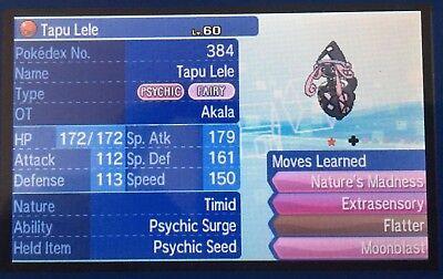 Pokemon Sun Moon Akala Event Shiny Tapu Lele 6IV Guide
