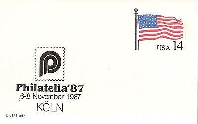 US #UX117 Flag, Philatelia '87 (0336)