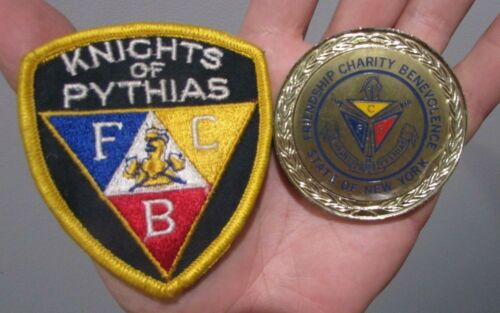 KNIGHTS OF PYTHIAS PATCH MEDALLION PAPER WEIGHT