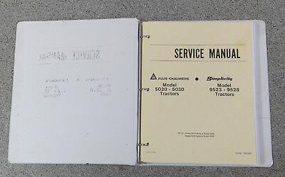 Allis Chalmers 5020 5030 Simplicity 9523 9528 Tractor Service Repair Manual