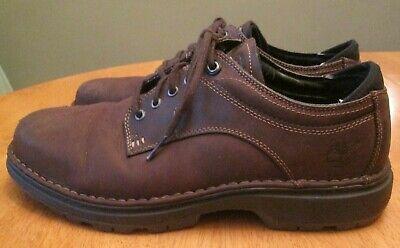 Timberland Travel Gear Comfort Dark Brown Leather Casual Oxford Shoe Men Sz 10.5