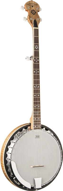 Oscar Schmidt OB5SP 5-String Banjo Spalted Maple Resonator Bluegrass Banjo
