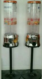 Tubz sweet tower vending machines and stands. New £1 coins. Excellent condition.