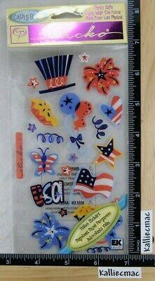 Sticko VELLUM UNDENIABLY USA Stickers STARS AND STRIPES FIREWORKS FLAG -