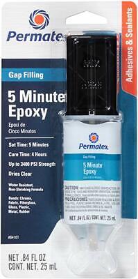 Permatex Gap Filling Epoxy 5 Minute -60F to 180F Degree 0.84 fl. oz Dual Syringe