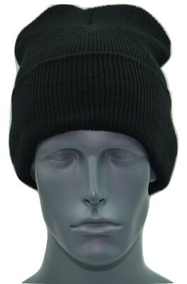 Knit Cuffed Acrylic 40 gram Thinsulate™ Black Winter Hat  Ribbed Beanie Toque ()
