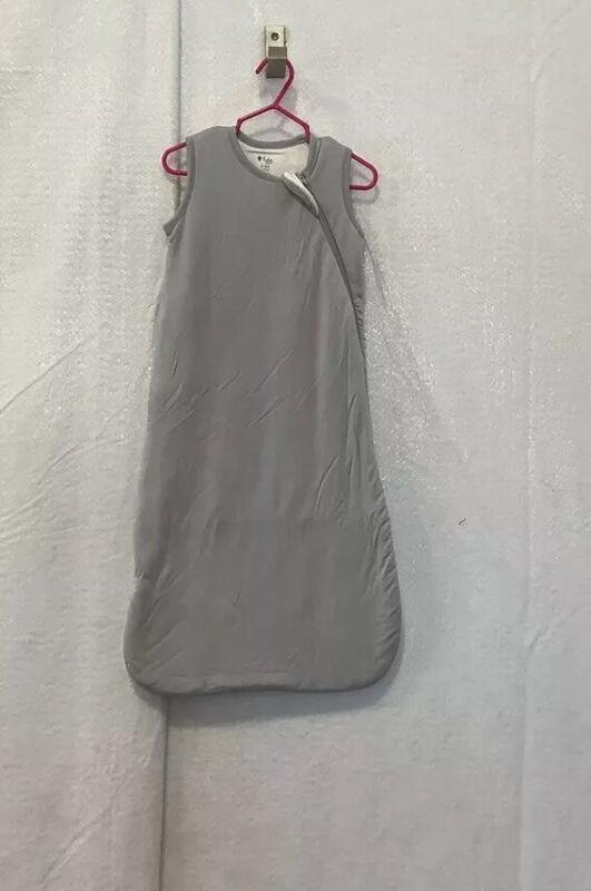 Kyte BABY Sleep Sack Gray Zip Up Cozy 0-6 Months New