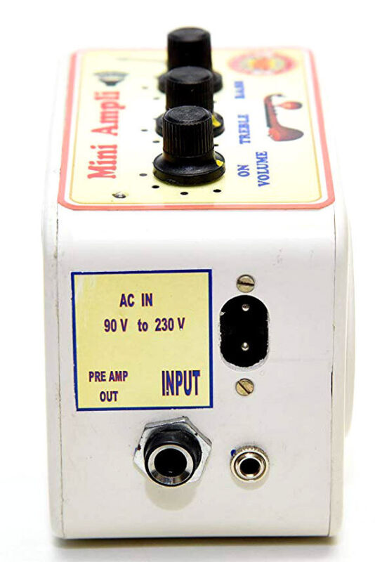 COMPACT PORTABLE AMPLIFIER FOR INDIAN ACOUSTIC ELECTRIC SITAR SAROD VEENA ETC