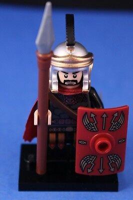 LEGO® Custom Deluxe ROMAN GENERAL +Black Crest, Shield, Spear, & Detailed Helmet