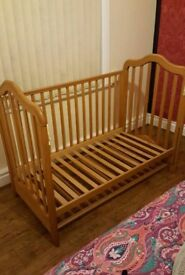 Bedside cot with mattress