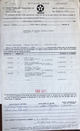 Ben Hogan- Signed Contract from 1987