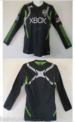 57a7c6c25 Adidas SEATTLE SOUNDERS Soccer Football MLS USA Shirt AUTHENTIC LS Jersey~Sz  2XL