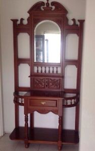 Timber Hall Table with mirror and drawer Wetherill Park Fairfield Area Preview