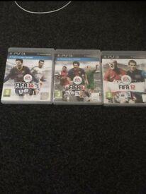 3 PS3 FIFA GAMES