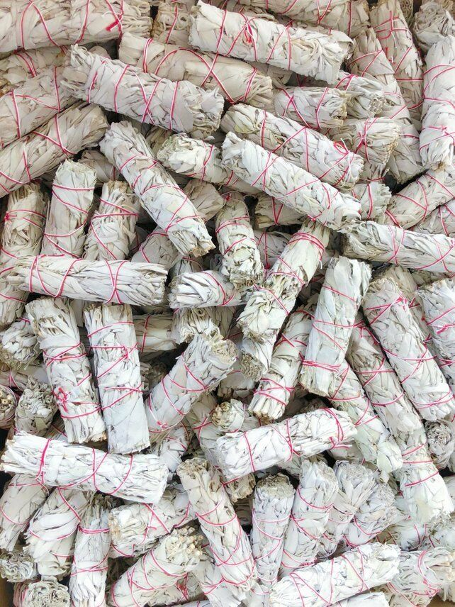 """White Sage Smudge 4"""" to 5"""" Stick House Cleansing Negativity Removal WHOLESALE"""