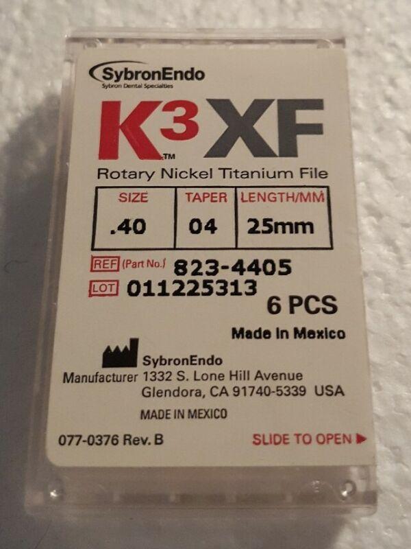 K3XF Rotary Nickel Titanium Files Size .40 Taper 04 Length 25mm