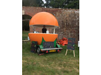 Business For Sale - Juice/Smoothie/Food Kiosk - 360 degree Bar - Trailer Cart - Mobile/Portable