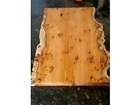 wooden chopping board yew bread board kitchen/cheese board/charcuterie board HandMade( Free Post)