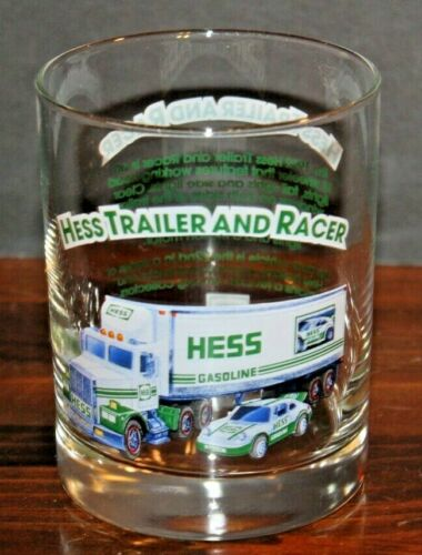 Hess Trailer and Racer 1996 Glass Cup Classic Truck Series