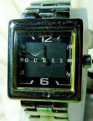 """GUESS """"1997"""" Women's 1-ATM Quartz Stainless St. Dress Watch-RUNS!-FREE SHIPPING!"""