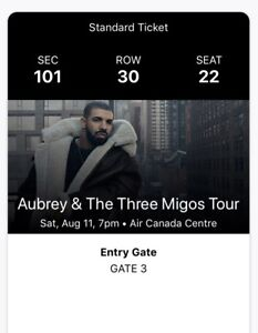 Drake concert ACC August 11, 2018