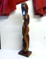 Art Deco Carved Hardwood Nude Sculpture 34, Signed 'cf' -  - ebay.co.uk