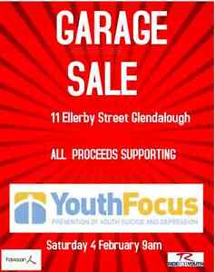 Mega Garage Sale with all proceeds supporting Youth Focus Glendalough Stirling Area Preview