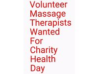 Volunteer Massage Therapists wanted for charity health day!15Nov