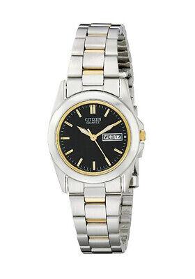 Citizen Women's EQ0564-59E Quartz Black Dial Two-Tone Bracelet 28mm Watch
