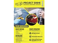 Project Shine - Body Repair - Paint Spraying - Detailing