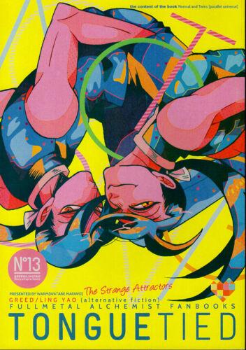 Fullmetal Alchemist Doujinshi Comic Book Greed x Ling Yao Lin Tonguetied Warm
