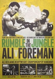 MUHAMMAD ALI VS GEORGE FOREMAN BOXING RUMBLE IN THE JUNGLE LIMITED EDITION PRINT