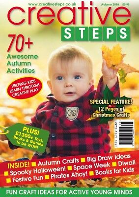 Creative Steps magazine - AUTUMN 2018 - fun autumn crafts ideas for kids! - Fall Craft Ideas For Kids
