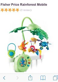 Fisher Price Rainforest Peek-A-Boo Leaves Cot Mobile