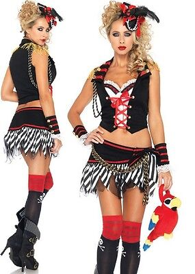 Deluxe Pirate Wench Kostüme (Delux Plank Walking Pirate Costume, Leg Avenue, 8-14, Wench, Bucanneer Captain)