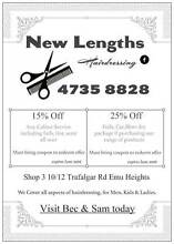 New Lengths hairdressing Emu Heights Penrith Area Preview