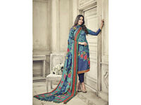 Latest indian pakistani Unstitched Pashmina Salwar Kameez