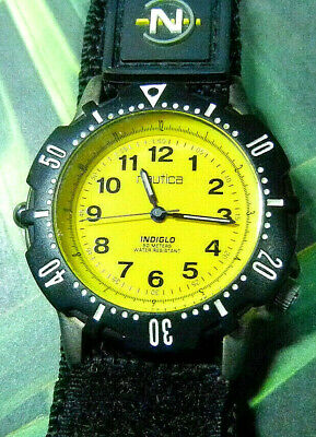 "NAUTICA ""Competition"" Men's 5-ATM Quartz Analog Sport Watch-RUNS!-FREE SHIPPING!"