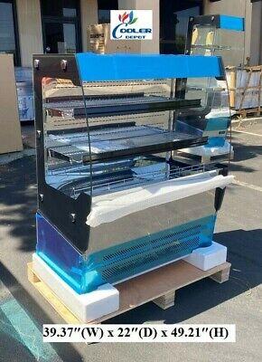 New 39 Open Air Curtain Refrigerator Cooler Sandwich Dessert Drink Display Nsf