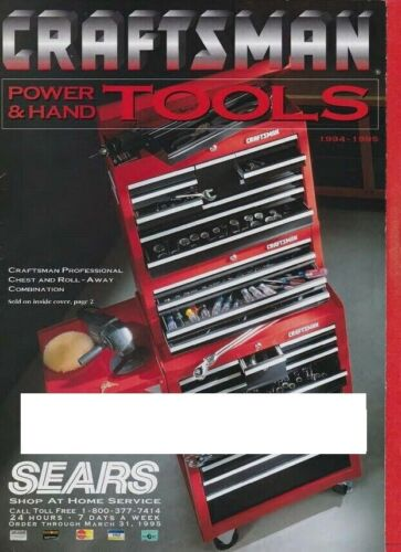 1994,1995 Craftsman Power and Hand Tools Catalog