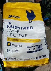 Empty chicken feed bags x 6 Embleton Bayswater Area Preview