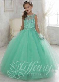 1 LEFT! Junior Bridesmaid, Princess, Prom Dress, Mint, Age 12