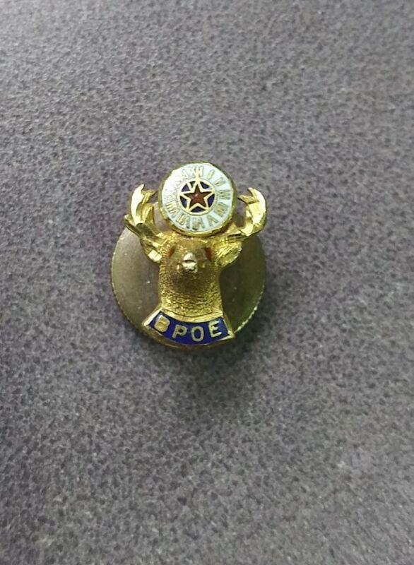 Vintage 10K Yellow Gold BPOE Elks Lodge Lapel Pin or Tie Tack