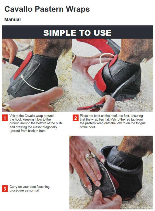 Cavallo Big Foot Pastern Wrap Boot