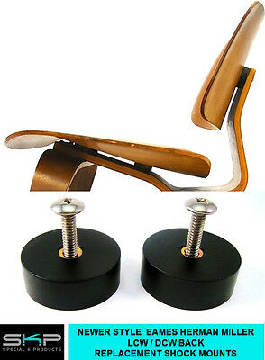 SHOCK MOUNTS FOR EAMES, HERMAN MILLER EVANS LCW/DCW CHAIR BACK REST ROUND PARTS