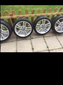 4 X BMW genuine 7 1/2Jx18 M double spoke alloy wheels/rims