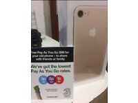 I phone 7 - Gold, 32GB, Brand New sealed in box for sale